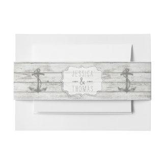 Het zeevaart Vergoelijkte Houten Collectie van het Uitnodigingen Wikkel