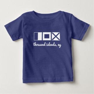 Het zeevaart vlagt-shirt, monogram/personaliseert baby t shirts