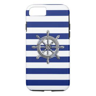 Het zeevaart Wiel van het Chroom op de Druk van de iPhone 7 Hoesje