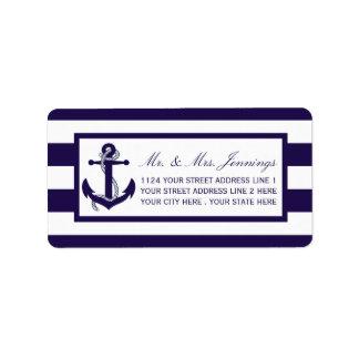 Het zeevaartCollectie van het Huwelijk van de Addressticker