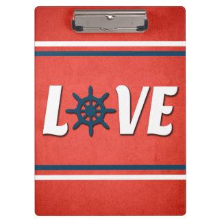 Het zeevaartontwerp van de liefde klembord