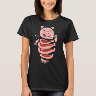 Het zelf Etende die Varken van de Kannibaal in de T Shirt