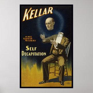 Het ZelfOnthoofding van Kellar Poster