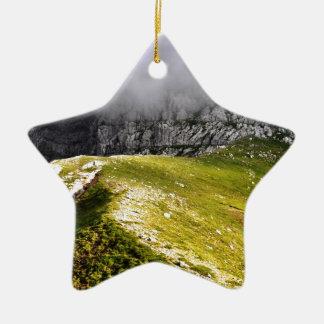 Het zien voorbij de Mist Keramisch Ster Ornament