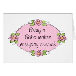 Het zijn een Baba maakt dagelijkse Speciall Kaart
