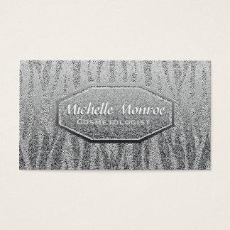 Het zilver glanst Metaal Visitekaartjes