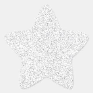 Het zilver schittert lege sjabloon ster sticker