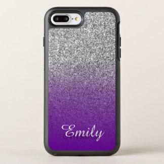 Het zilver schittert Violette Paarse OtterBox Symmetry iPhone 8 Plus / 7 Plus Hoesje
