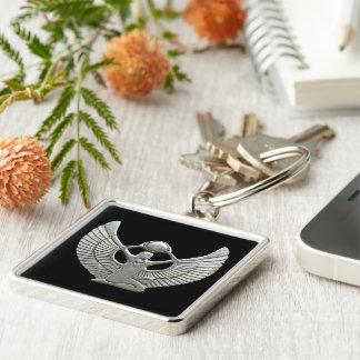 Het Zilver van de Amulet van ISIS Zilverkleurige Vierkante Sleutelhanger