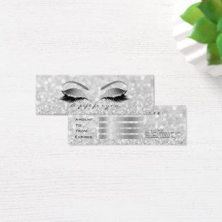 Het Zilver van het Certificaat van de gift Mini Visitekaartjes