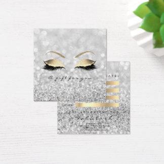Het Zilver van het Certificaat van de gift Vierkante Visitekaartjes
