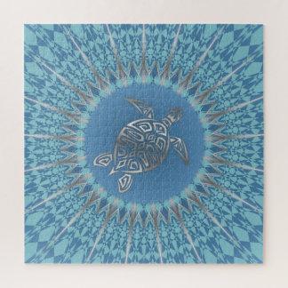 Het zilveren Blauwe Dier van Mandala van de Puzzel