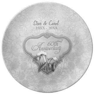 Het zilveren Calla Bord van het Jubileum van het Porselein Borden