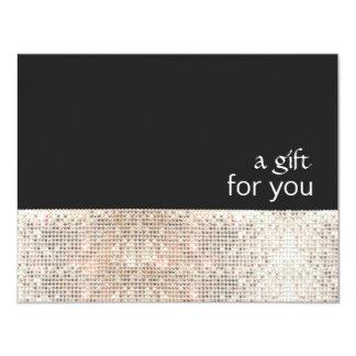 Het Zilveren Certificaat van de Gift van de Salon Kaart