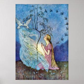 Het Zilveren en Gouden Poster van Cinderella