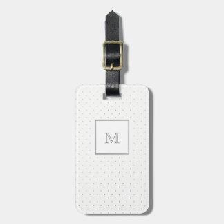 Het zilveren en Witte Label van de Bagage van de Bagagelabel