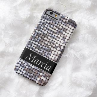 Het zilveren Fonkelende Lovertje ziet eruit Barely There iPhone 6 Hoesje