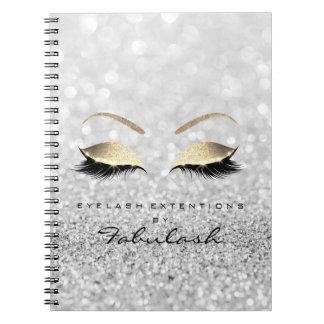 Het zilveren Grijze Goud schittert de Schoonheid Ringband Notitieboek