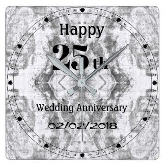 Het zilveren Grijze Marmeren 25ste Jubileum van Vierkante Klok