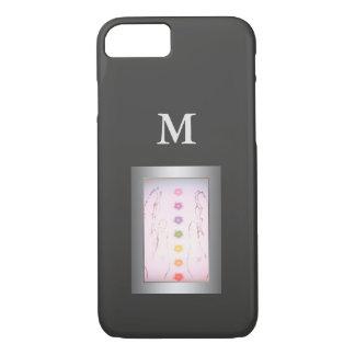 Het zilveren het Helen monogram van Handen iPhone 8/7 Hoesje