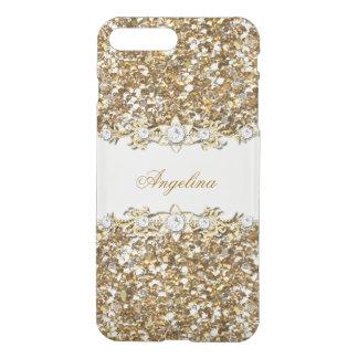 Het zilveren Juweel van de Diamant van Faux van iPhone 8/7 Plus Hoesje