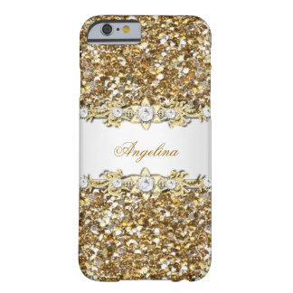 Het zilveren Juweel van de Diamant van het Witgoud Barely There iPhone 6 Hoesje