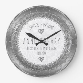 Het zilveren Kant ontwerpt het 25ste Jubileum van Ronde Klok Large