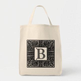 """Het zilveren Keltische Monogram van """"B"""" Draagtas"""