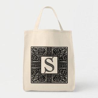 """Het zilveren Keltische Monogram van """"S"""" Draagtas"""