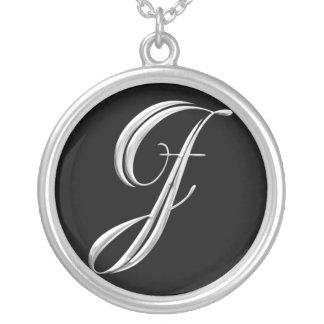 Het zilveren Ketting van het Monogram - brief J