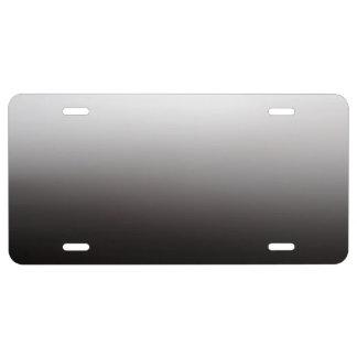 Het zilveren Lichte Donkere Metaal van de Schaduw Nummerplaat