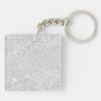 Het zilveren Ontwerp van de Luxe 2-Zijden Vierkante Acryl Sleutelhanger