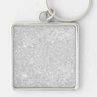 Het zilveren Ontwerp van de Luxe Zilverkleurige Vierkante Sleutelhanger