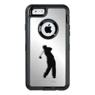 Het zilveren Ontwerp van het Golf OtterBox Defender iPhone Hoesje