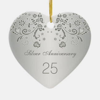 Het zilveren Ornament van de Verjaardag van het