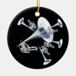 Het zilveren Ornament van Trompetten