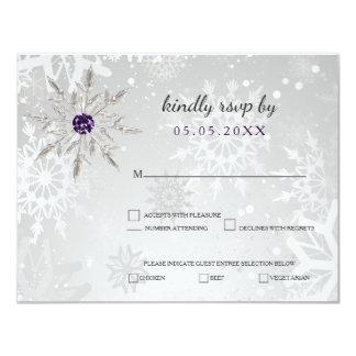 het zilveren paarse huwelijk van de 10,8x13,9 uitnodiging kaart
