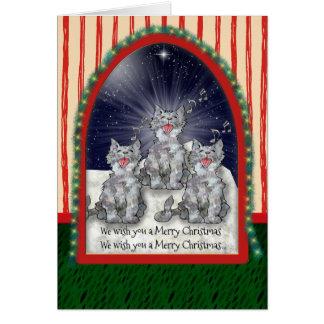 Het zingen Gepersonaliseerde de Katten van Briefkaarten 0