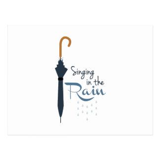 Het zingen in de Regen Briefkaart