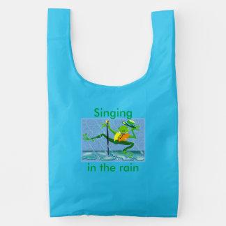 Het zingen in de regen en het dansen in de regen herbruikbare tas