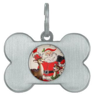 Het zingen Kerstman en het Label van het Huisdier Huisdieren Naamplaatje