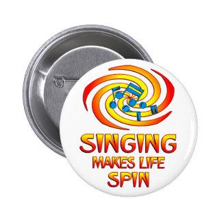Het zingen Rotaties Ronde Button 5,7 Cm