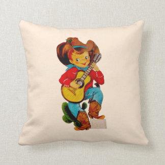 Het zingende Kind van de Cowboy Sierkussen