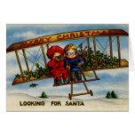 Het zoeken van de Vintage Kerstkaart van de Kerstm Kaarten