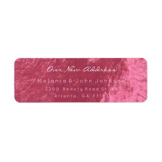 Het zoet-Rode Roze Witte Nieuwe Adres RSVP van het Etiket