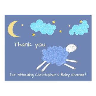 Het zoete Blauwe Wiegeliedje dankt u Baby shower Briefkaart