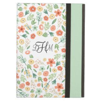 Het zoete BloemenHoesje Met monogram van de Lucht  iPad Air Hoesje