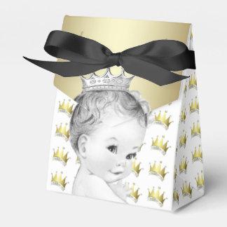 Het zoete Gouden Baby shower van de Prins Bedankdoosjes
