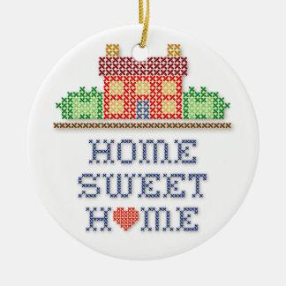 Het Zoete Huis van het huis Rond Keramisch Ornament
