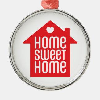 Het zoete huis ♥ van het huis zilverkleurig rond ornament